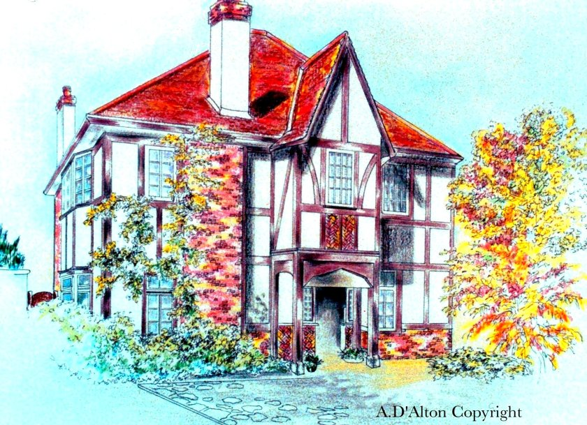 A mock-tudor house
