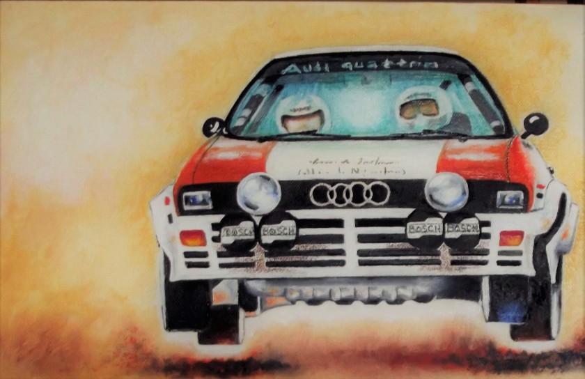 Audi q. flying