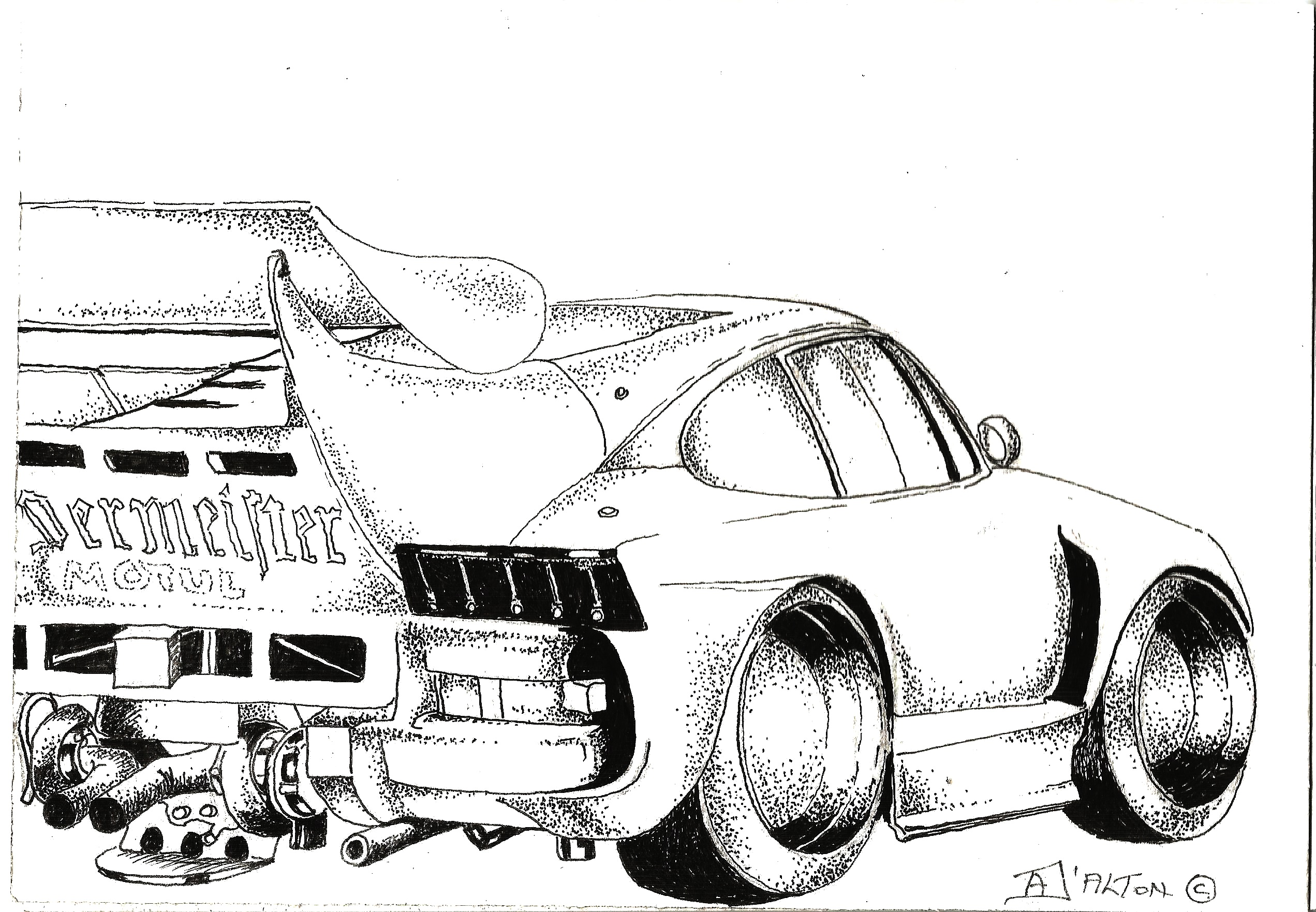 Line Drawing Of Car : How to draw old cars